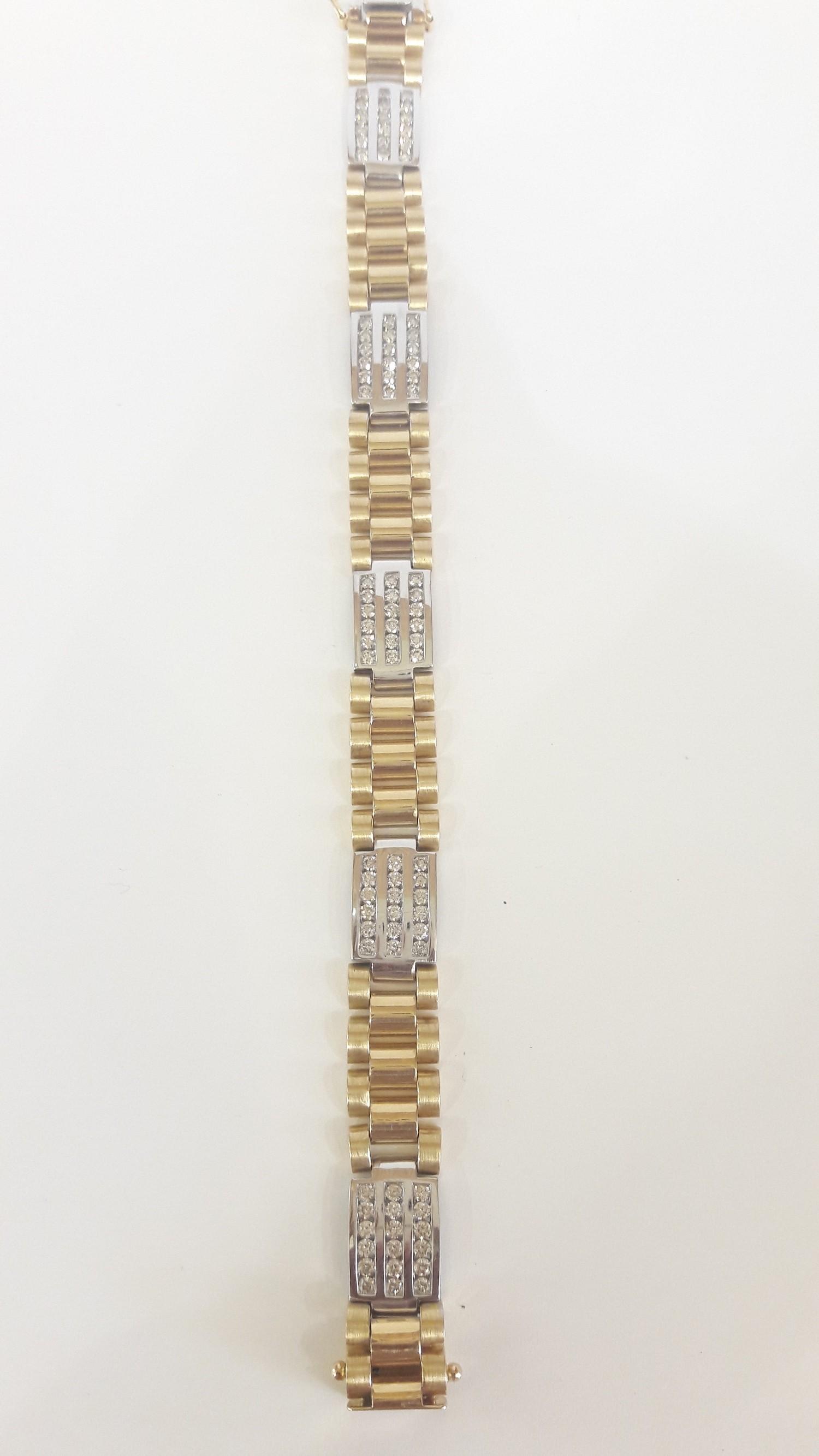 Mens Bracelet with Diamonds