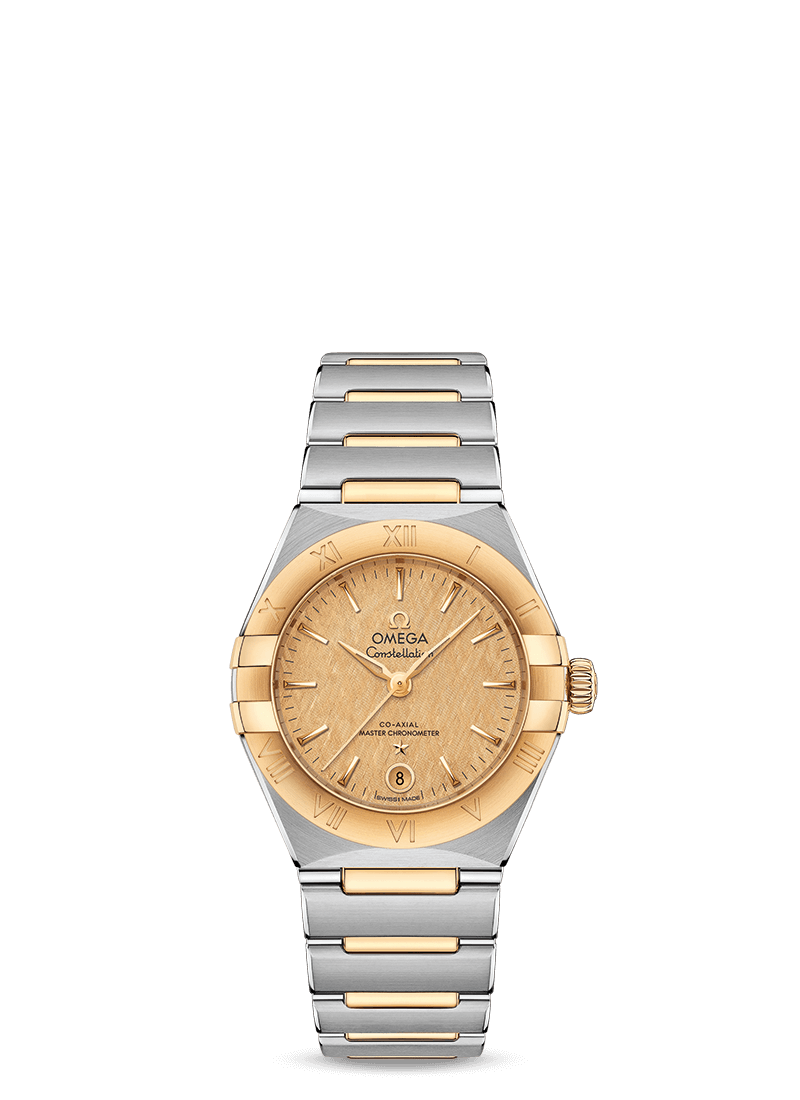 Steel ‑ yellow gold on Steel ‑ yellow gold Constellation Manhattan Omega Co‑Axial Master Chronometer 29 mm