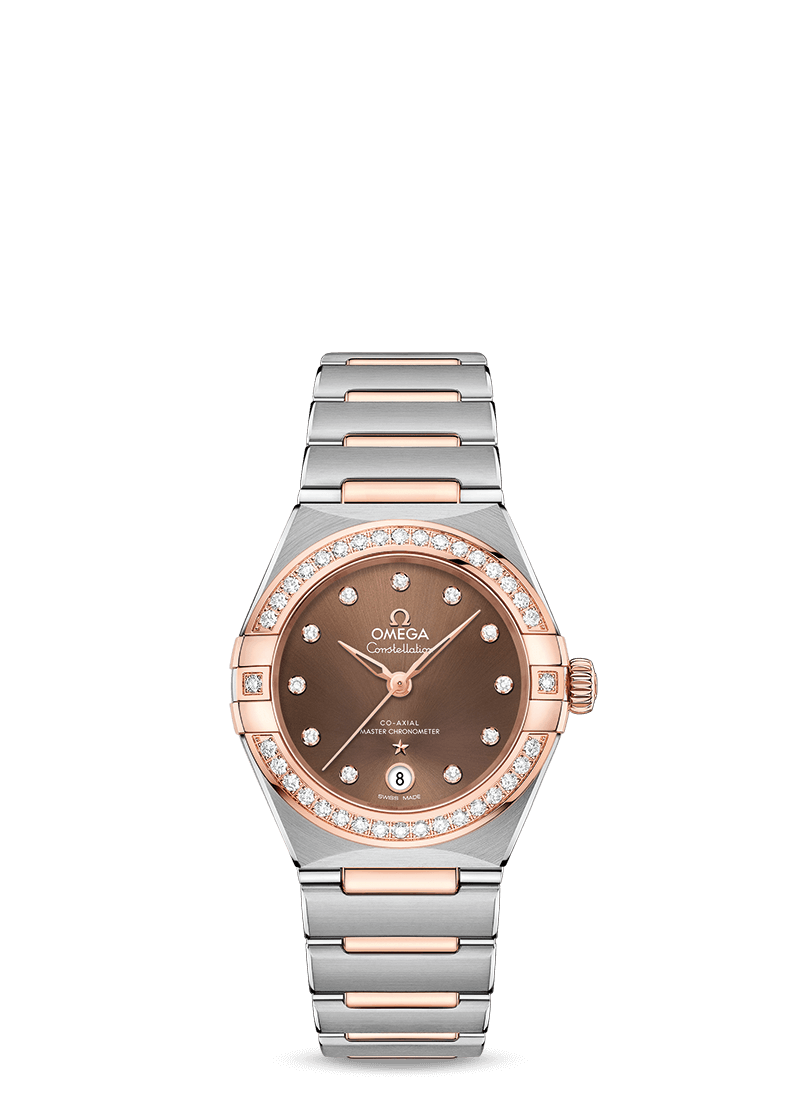 Steel ‑ Sedna™ Gold on Steel ‑ Sedna™ Gold Constellation Manhattan Omega Co‑Axial Master Chronometer 29 mm