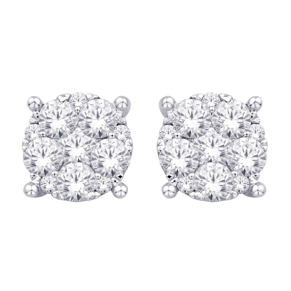 watch earrings platinum stud youtube diamond carat