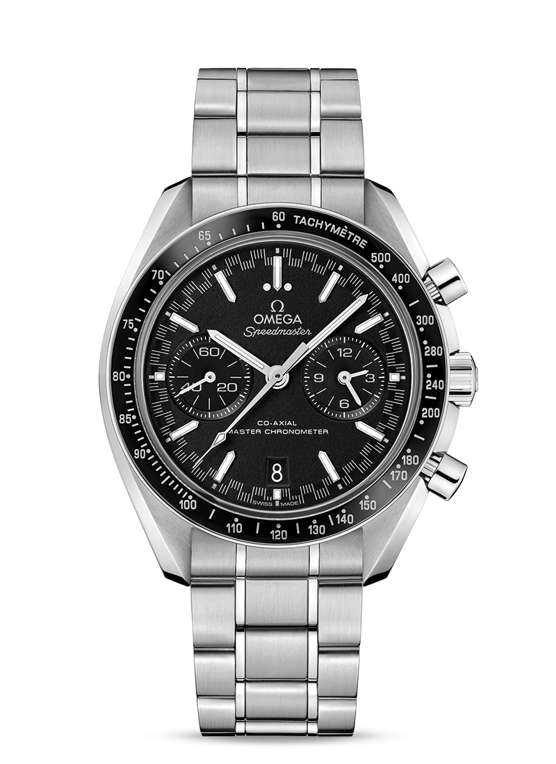 Steel on steel RACING OMEGA CO‑AXIAL MASTER CHRONOMETER CHRONOGRAPH 44.25 MM