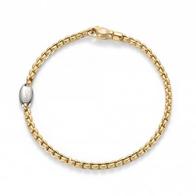 Fope EKA 18ct Yellow Gold Slim Bracelet