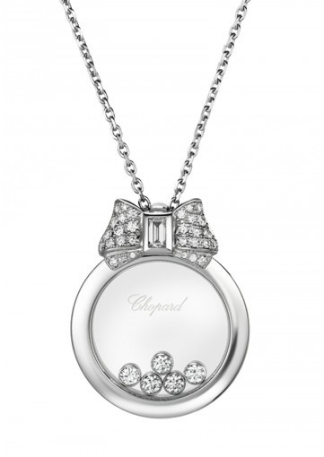 Happy diamonds icons pendant 18k white gold and diamonds chopard happy diamonds icons pendant 18k white gold and diamonds aloadofball