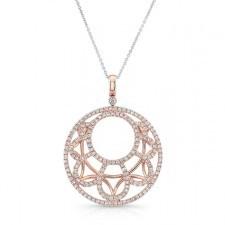 ROSE GOLD CONTEMPORARY LOOP DIAMOND MEDALLION