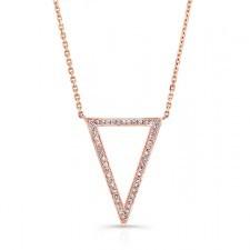 ROSE GOLD TRENDY V DIAMOND PENDANT