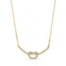YELLOW GOLD INSPIRED TWISTED DIAMOND PENDANT