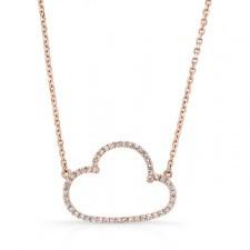 ROSE GOLD TRENDY CLOUD DIAMOND PENDANT