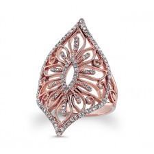 ROSE GOLD INSPIRED VINTAGE DIAMOND RING