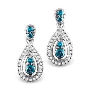 Blue Diamond Earring
