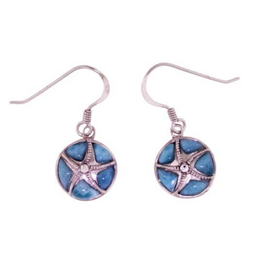 linings silver crab larimar with shell product satin earrings